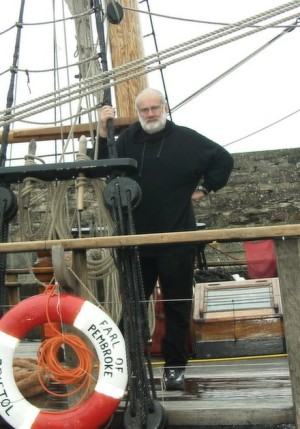 Sailed in her to Ireland