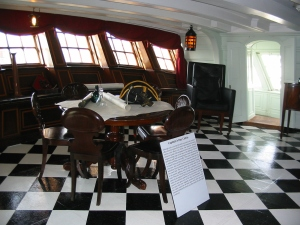 Captain Hardy's day cabin