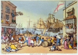 Portsmouth Point, Rowlandson