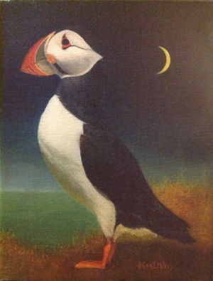 Kim de Vaney's whimsical puffin