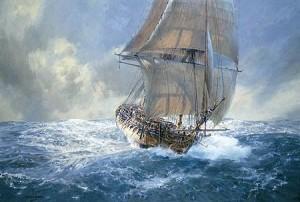 The frigate <em>Artemis</em><br> in the Great Southern Ocean