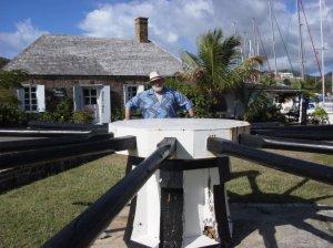 At the careening capstan<br>English Harbour, Antigua