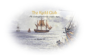 The KYDD Club certificate