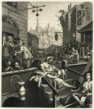 Hogarth's famous depiction of the seamier side of Georgian life