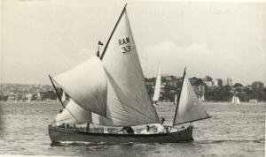 Sailing a naval whaler in Sydney harbour