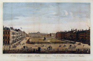 In the mid eighteenth century Leicester Square was a fashionable address