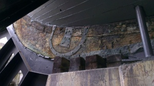 Detail of Victory's keel