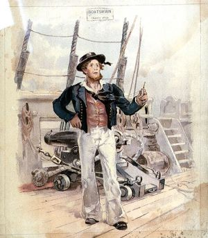 Boatswain - his rig was similar to the common sailor