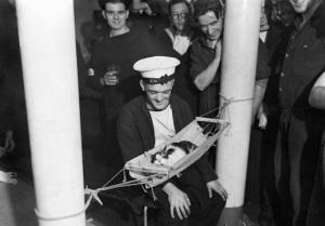 Sailors lovingly fashioned miniature feline hammocks