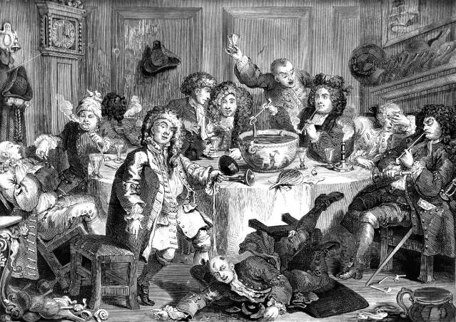Punch: an eighteenth century etching by Hogarth