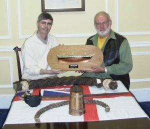 Canadian reader Bob Squarebriggs presented me with this splendid half model of Artemis