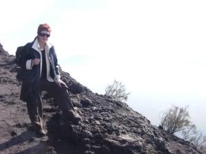 Kathy atop Vesuvius