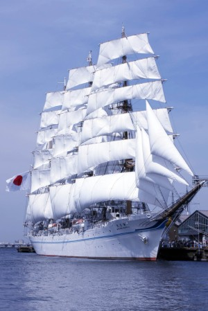 Rod enjoys visiting the Japanese sail training ship Kaiwu Maru
