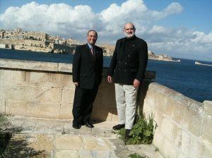 With Captain Reuben Lanfranco in Malta