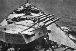 The mighty 16-inch guns of HMS Rodney - the weapons that destroyed Bismarck. Credit: US Naval Heritage and History Command