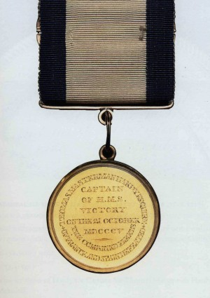 Captain Hardy's Small Gold Trafalgar Medal
