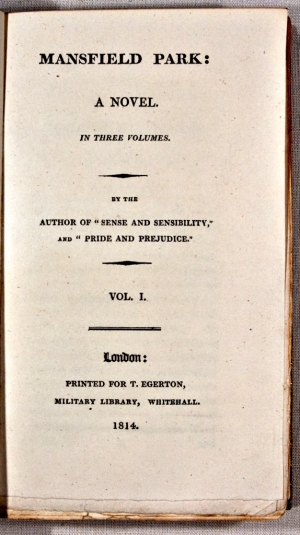A First Edition of 'Mansfield Park'