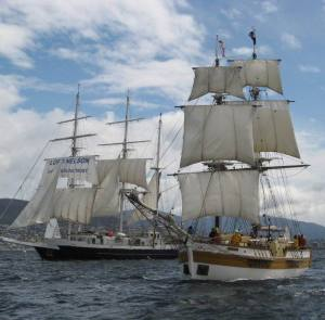 Lord and Lady Nelson (Lord Nelson is one of the vessels of the Jubilee Sailing Trust)