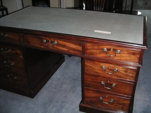 The actual desk Prime Minister Pitt used when working at Walmer Castle on secret missions