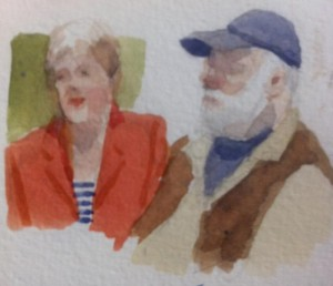 Joe's impromptu watercolour sketch of the Stockwins