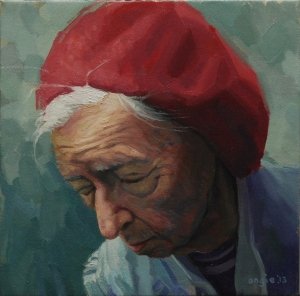 Woman in a Red Beret by Joe Ongie