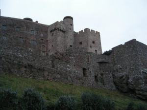 The ancient castle of Mont Orgueil at the head of Gorey Bay in Jersey; where Renzi worked with Philippe d'Auvergne