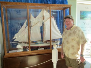 Tom Rogers visiting the Grand Cayman Museum in the Caribbean