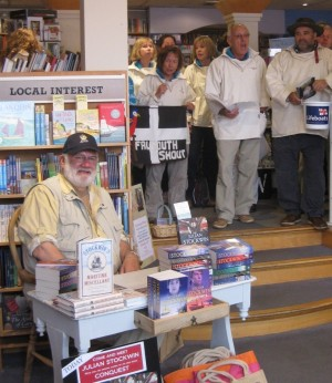 How many authors can say they've been serenaded  at a book signing? Thanks, <em>Falmouth Shout!</em>
