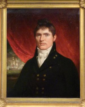 A painting of a real Thomas Kydd, master's mate in 1801, actually not far off  how I see Kydd at that stage of his life