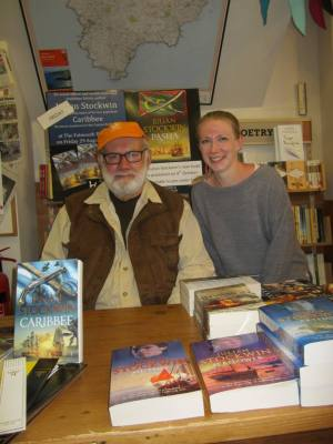 With Kate at the Falmouth Bookseller