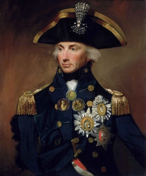 Nelson. On his cocked hat is the aigrette presented by the Ottoman sultan after Nelson's victory